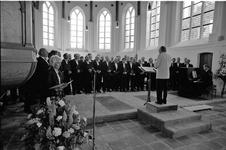 JVH-0180 Dreischor. Ring. Adriaanskerk. Concert door het Heusdens Mannenkoor tijdens de Zang- en Muziekavond, die op ...