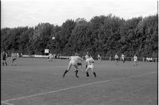 JVH-0848 Renesse. Laone. Voetbalveld. Spelmoment tijdens de finale van het campingvoetbaltoernooi Bremhoeve-Bonafide. ...