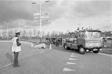 JVH-1265 Zierikzee. N59/Nieuwe Koolweg. Rotonde. Aanrijding waarbij een personenauto op een bestelbus rijdt. Beide ...
