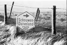 JVH-1618 Zierikzee/Noordgouwe. Lange Blokweg. Sneeuw in april.