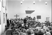 JVH-1645 Scharendijke. Bethlehemplein. Nederlands Hervormde kerk. Zang- en korenavond van christelijk gemengde ...