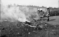 JVH-1700 Zonnemaire. Onbekende locatie. Caravanbrand