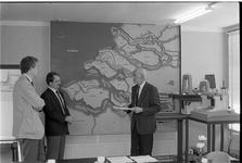 JVH-2170 Veere. Neeltje Jans. De inrichtingsschets voor de aanleg van een World Fish Centre op voormalig werkeiland ...