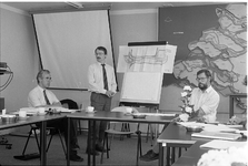 JVH-2171 Veere. Neeltje Jans. Presentatie van het inrichtingsplan voor een World Fish Centre op Neeltje Jans.
