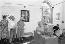 JVH-5030 Burgh-Haamstede. Weststraat. Werk van zes kunstenaars is te zien in de Bewaerschole. Moderne beeldende kunst ...