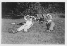 RK-0003 Haamstede. Een aantal leden van het Luftwaffe Baubataljon op Vliegveld Haamstede.