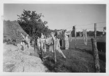 RK-0004 Haamstede. Een aantal leden van het Luftwaffe Baubataljon op Vliegveld Haamstede.