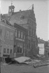 RK-0647 Brouwershaven. Markt. Hotel Ringelberg en gemeentehuis.