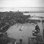RK-0923 Zierikzee. Raamstraat (rechtsonder), Wevershoek (links), Regenboogstraat (middenboven) en op de achtergrond het ...