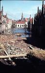 RK-1470 Zierikzee. Watersnoodramp 1953. Gezicht vanuit de Hoofdpoortstraat op de Breedstraat.