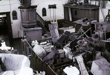 RK-1652 Kerkwerve. Watersnoodramp 1953. Kerkweg. Interieur Ned. Herv. kerk.