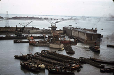 RK-1753 Ouwerkerk. Watersnoodramp 1953. Herstelwerkzaamheden.