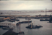 RK-1755 Ouwerkerk. Watersnoodramp 1953. Herstelwerkzaamheden.