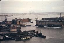 RK-1756 Ouwerkerk. Watersnoodramp 1953. Herstelwerkzaamheden.