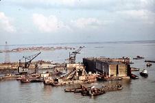 RK-1765 Ouwerkerk. Watersnoodramp 1953. Herstelwerkzaamheden.