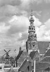 RK-2031 Zierikzee. Stadhuistoren, met links molen de Hoop .