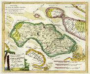 THA-1634 Schouwen-Duiveland. Kaart van het eiland, met delen van de omliggende eilanden.