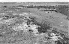 WA-0267 Nieuw-Haamstede. Het landschap achter vliegveld Haamstede, aan de oostkant. Rechts de gronden van de ...