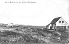 WA-1143 Westenschouwen. Kraaijesteinweg. Tussen 1915 en 1930 werden midden in opgaande westerduinen aan de rand voor ...