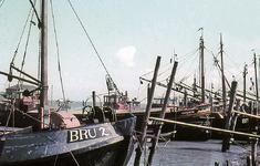 X-2277 Bruinisse. Haven. Op de voorgrond de BRU 2, de daarachter liggende Schouwen is van J.C. van der Doe uit Zierikzee.
