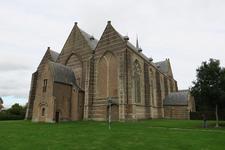 X-5480 Brouwershaven. Sint Nicolaaskerk. Driebeukig bakstenen gebouw daterend uit 16e eeuw met een oudere kap