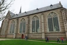 X-5482 Brouwershaven. Sint Nicolaaskerk. Driebeukig bakstenen gebouw daterend uit 16e eeuw met een oudere kap