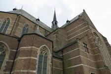 X-5484 Brouwershaven. Sint Nicolaaskerk. Driebeukig bakstenen gebouw daterend uit 16e eeuw met een oudere kap