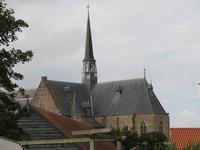 X-5490 Brouwershaven. Sint Nicolaaskerk. Klokkenstoel met klok van Nicolaas Greve, 1734