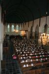 X-5694 Dreischor. Ring. Nederlands Hervormde Kerk (Adriaanskerk). Interieur van de kerk tijdens de opening van de ...