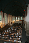 X-5695 Dreischor. Ring. Nederlands Hervormde Kerk (Adriaanskerk). Interieur van de kerk tijdens de opening van de ...