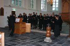 X-5697 Dreischor. Ring. Nederlands Hervormde Kerk (Adriaanskerk). Opening opgeknapte grafkapel met gerestaureerde ...