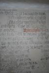 X-5707 Dreischor. Ring. Nederlands Hervormde Kerk (Adriaanskerk). Detail van muurschildering/cartouche met ...