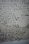 X-5708 Dreischor. Ring. Nederlands Hervormde Kerk (Adriaanskerk). Detail van muurschildering/cartouche met ...