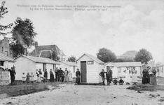 ZG-0202 Zierikzee. Balie. Opvang Belgische vluchtelingen tijdens de Eerste Wereldoorlog. Noodwoningen op een terrein ...