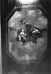 ZM-0323 Zierikzee. Poststraat 45. Detail plafond Regentenkamer. Sinds 1863 Burgerweeshuis. Het gebouw dateert uit ...