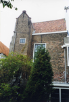 ZM-0339 Zierikzee. Poststraat 45. Detail achtergevel. Sinds 1863 Burgerweeshuis. Het gebouw dateert uit omstreeks 1730.