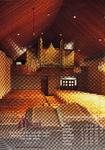 ZM-1040 Zierikzee. Sint Domusstraat 11. Interieur van de kerk van de Oud Gereformeerde Gemeente in Nederland, na de ...