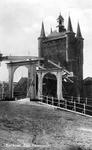 ZM-2015 Zierikzee. Zuidhavenpoort stadzijde, met ophaalbrug.
