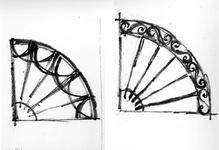 ZM-2714 Zierikzee. Stoephekken. Tekening door dhr. C.A. van Swigchem.