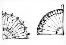 ZM-2715 Zierikzee. Oude Haven. Stoephekken. Tekening door dhr. C.A. van Swigchem.