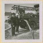 260 Brand in de graanopslagplaats van de Coöp. Handelsvereniging van de Noord-Brabantse Christelijke Boerenbond aan de ...