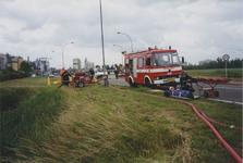 960111 Brandweeroefening van de regio-bijstand aan de Nijverheidsstraat te Sas van Gent