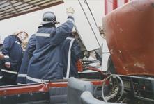 960112 Brandweeroefening van de regio-bijstand aan de Nijverheidsstraat te Sas van Gent