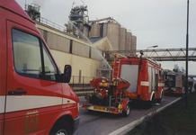 970115 Oefening van de brandweer bij de fabriek van Cerestar aan de Westkade te Sas van Gent