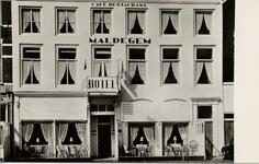 20980 'Hotel - Café - Restaurant 'Maldegem' Eig. Charles v.d. Berg Beursplein 5, Beursplein 7, Vlissingen Tel. (01184)-2594