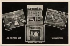 21021 'Groeten uit Vlissingen'. Vier afbeeldingen van Hotel-café-restaurant Maldegem aan het Beursplein. Afbeeldingen ...