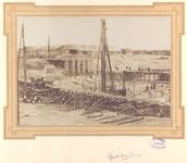 22258 Werkzaamheden i.v.m. haven-, kanaal- en spoorwegwerken te Vlissingen. Dubbele schutsluis te Vlissingen tijdens de ...
