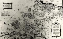 22325 Kartografisch document 'Zelandia'. Kaart van Zeeland op last van Alva geschilderd door Christiaan Sgrooten, ...