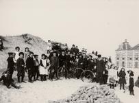 25139 Het strand bij het Grand Hotel des Bains (later Britannia).