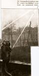 25900 Oefening van de Vlissingse brandweer bij de Voorhaven in Vlissingen. Op de achtergrond hotel Goes op de hoek van ...